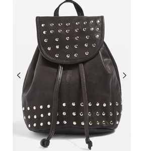 Leather Studded Mini Backpack